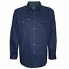 Picture of Hard Slog Men Full Placket Light Cotton Shirt Dark Navy