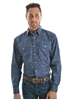 Picture of Pure Western Men Leon Print L/Sleeve