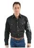 Picture of Wrangler Men's Logo Rodeo l/sleeve Shirt Black