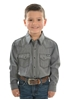 Picture of Pure Western Boys Baldwin L/S Shirt Black
