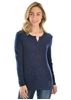 Picture of Pure Western Wmn Evie Lace Henley Navy