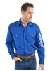 Picture of Wrangler Men's Logo Rodeo l/sleeve Shirt Cobalt