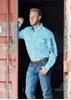 Picture of Wrangler Men's Auburn Print  L/Sleeve Shirt