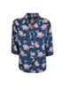 Picture of Pure Western Women Crystal 3/4 Shirt Navy/Pink