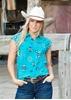 Picture of Wrangler Womens Jean Print Sleeveless Shirt