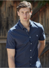 Picture of Thomas Cook Men Allumba Tailor Short Sleeve Navy
