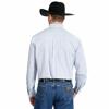 Picture of Wrangler Men George Strait Long Sleeve Shirt Blue White