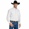 Picture of Wrangler Men's George Strait White/Burgundy Printed L/S Button Up Shirt