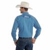 Picture of Wrangler Men  Ford Logo Blue Diamond Pattern Shirt