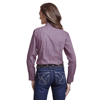 Picture of Wrangler Women TNWP 2 pocket Print Long/Sleeve Pink/Black