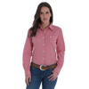 Picture of Wrangler Women's George Strait For her Red/White L/Sleeve