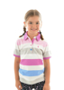 Picture of Thomas Cook Girl Harper Short Sleeve Polo Pink/Blue