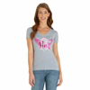 Picture of Wrangler Women's Tough Enough To Wear Pink V Neck Short Sleeve