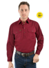 Picture of Hard Slog Men's Heavy Cotton 1/2 button, L/S Shirt