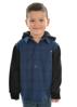 Picture of Pure Western Boys Barnett Long Sleeve Hoodie Shirt Navy