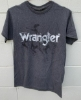Picture of Wrangler Men Kabel Bronco S/Sleeve Tee Charcoal