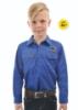Picture of Hard Slog Kids Half Placket Light Cotton Shirt - Coolgardie Muster