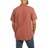 Picture of Ariat Men's Rebar Washed Twill Work Shirt Henna